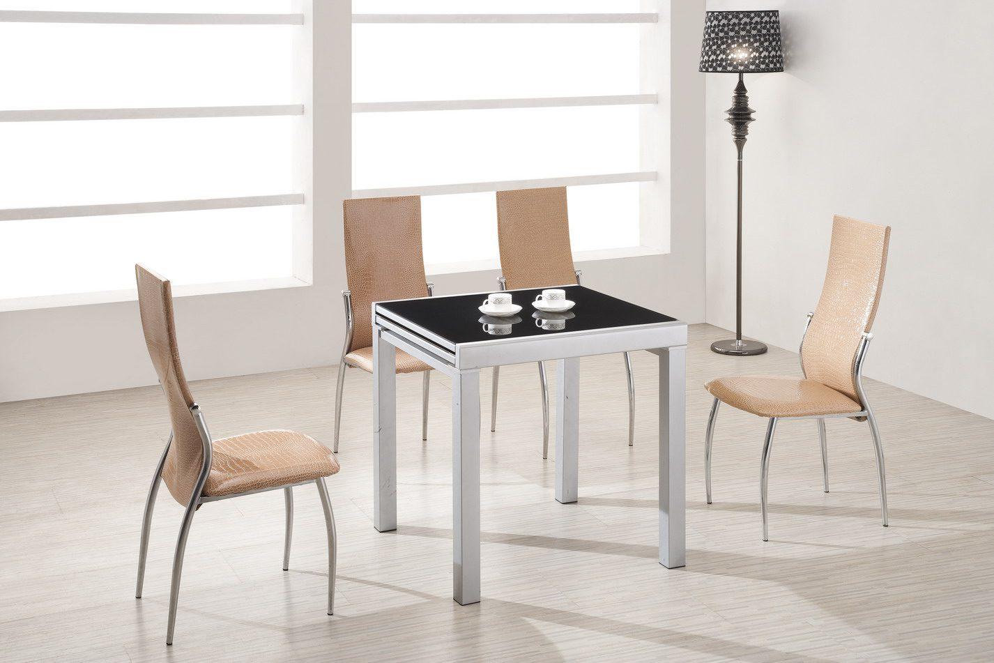 Стол ESF LT4001 черный, Стулья ESF L23