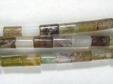 Нить бусин из агата Индийского, фигурные, 3x5 мм (цилиндр, гладкая)