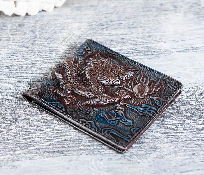 WL293-3 Крутой кошелек с объемным китайским драконом фото 03