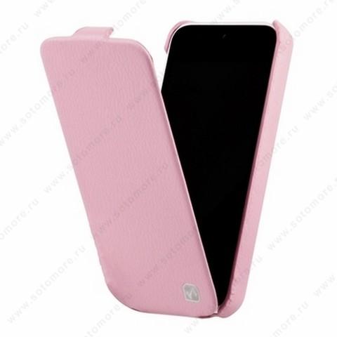 Чехол-флип HOCO для iPhone SE/ 5s/ 5C/ 5 - HOCO Duke Leather Case Pink