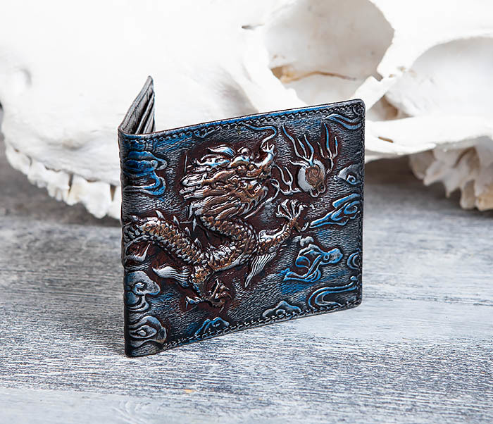 WL293-3 Крутой кошелек с объемным китайским драконом фото 04