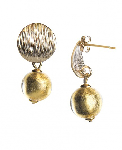 Серьги 2019 Perla Metallo Rotondo Grande Light Gold