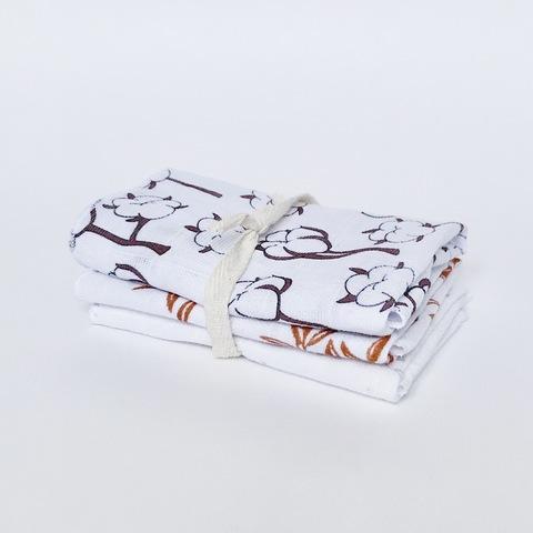 Сет из 3х муслиновых салфеток Mjölk Хлопок