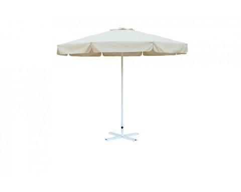 Зонт Митек Ø 2.5 м с воланом (стальной каркас с подставкой, стойка 40мм, 8 спиц 20х10мм, тент OXF 300D)