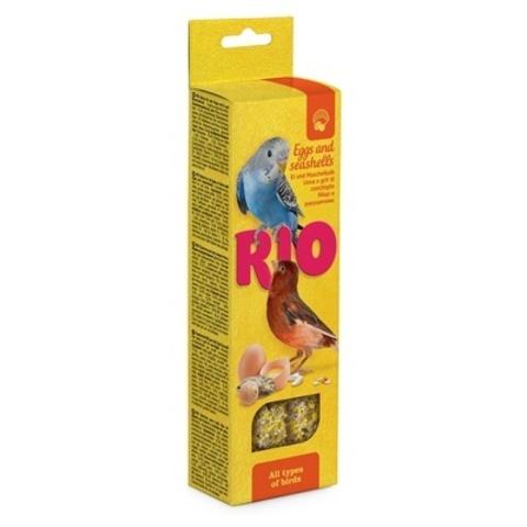 RIO  палочки для всех видов птиц с яйцом и ракушечником 2х40г