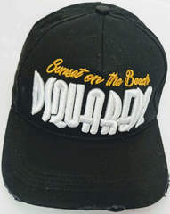 Американская бейсболка женская черная Dsquared2 Supset on the Beach 65656265-Black.