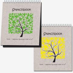 Скетчбук Sketchbook Black 20л., 170х200,черная бумага 140 г/м,обл.выб.лак