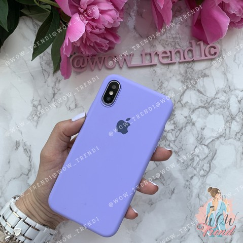 Чехол iPhone X/XS Silicone Slim Case /glycine/