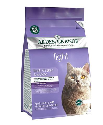 Arden Grange Adult Light корм беззерновой для кошек склонных к полноте (с курицей и картофелем) 400г
