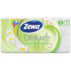 Бумага туалетная Zewa Deluxe 3-слойная белая с ароматом ромашки (8 рулонов в упаковке)