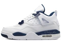 Кроссовки Мужские Nike Air Jordan IV Retro White Blue