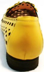 Босоножки с закрытым носом и пяткой женские Phany 103-28 Yellow.