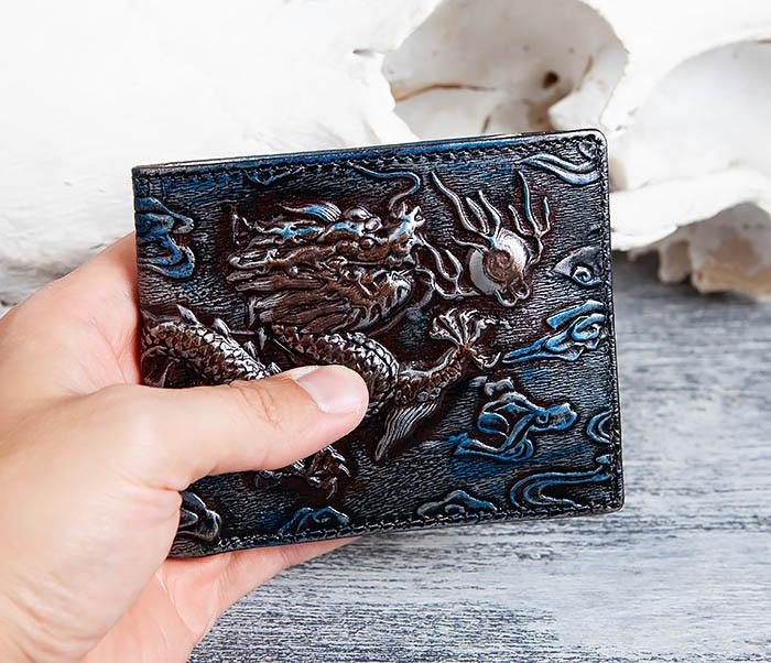 WL293-3 Крутой кошелек с объемным китайским драконом фото 08