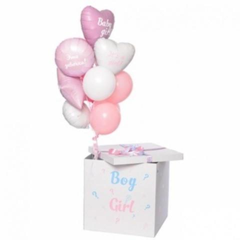 Коробка с шарами пол ребенка Девочка