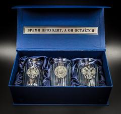 Подарочный набор граненных стаканов «Неподвластный времени», фото 8