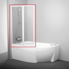 Шторка на борт ванны складная 160х150 см левая Ravak Rosa VSK2 160 L 76L9010041 фото