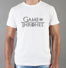 Футболка с принтом Игра престолов (Game of Thrones) белая 001