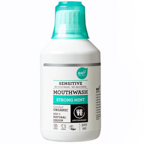 Urtekram Ополаскиватель для полости рта с сильным ароматом мяты, для чувствительных зубов, 300 мл