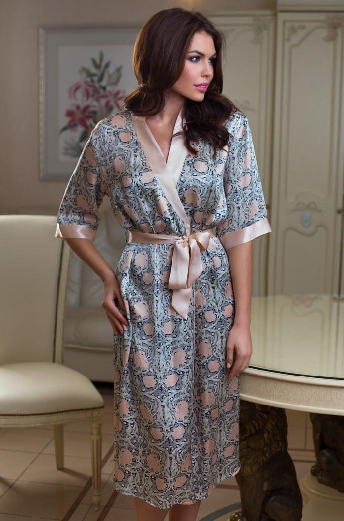 Шелковые халаты Халат женский натуральный шелк MIA-MIA Dior ДИОР 15089 15089.jpg