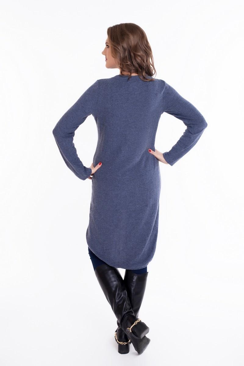 Туника для беременных 09063 синий