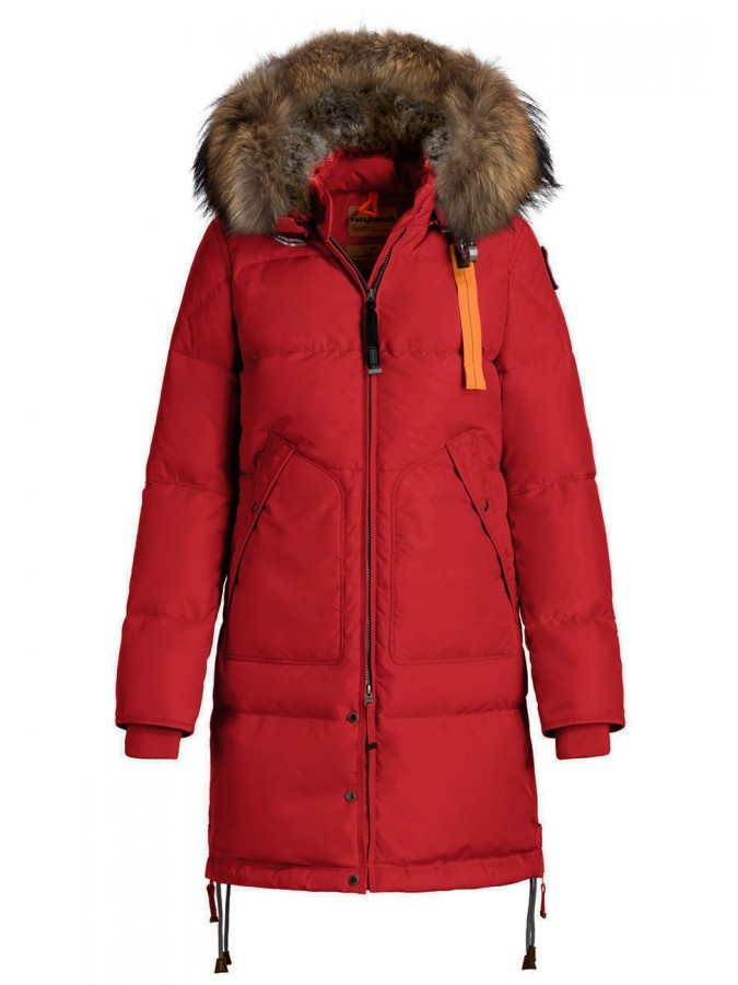Пуховик Parajumpers Long Bear Red (Красный)