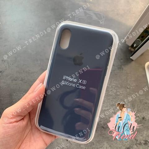 Чехол iPhone XS Max Silicone Case Full /midnight blue/ темно-синий