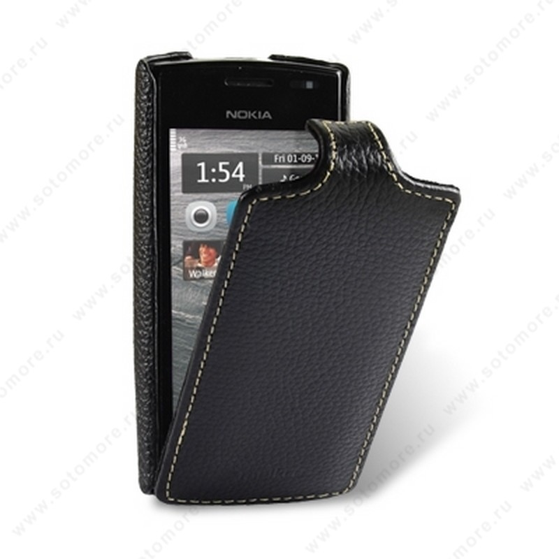 Чехол-флип Melkco для Nokia 500 Leather Case Jacka Type (Black LC)