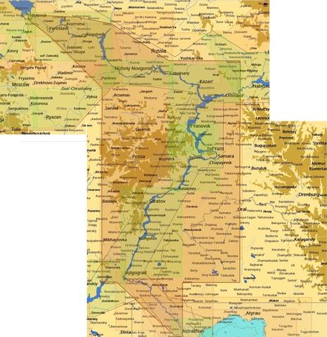 Карта C-MAP Волга: Рыбинск– Астрахань