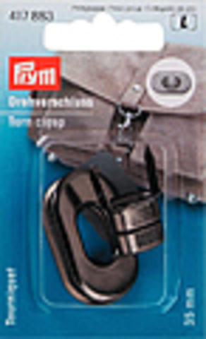 Поворотный замок для сумки Prym 35мм (цвета состаренного серебра) (Арт. 417883)