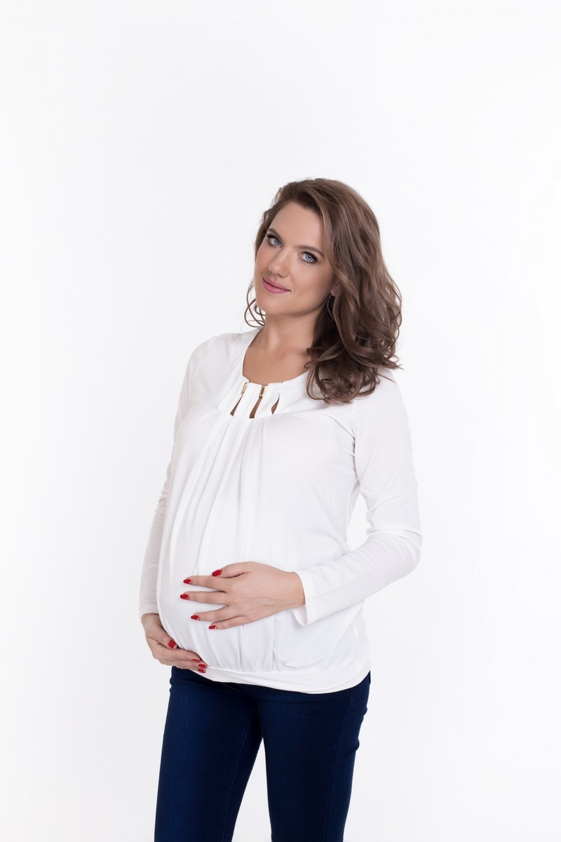 Блузка для беременных 01822 белый