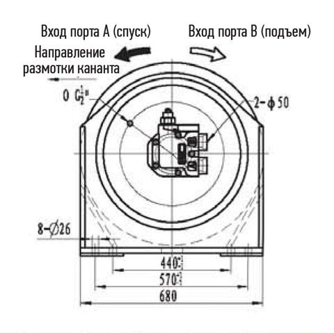 Лебедка свободного сброса IYJ5-70-112-21.5-L-ZPH3