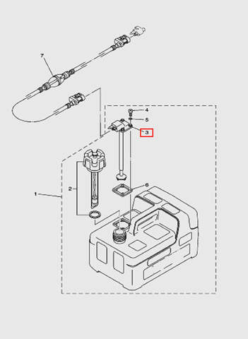 Датчик уровня топлива с коннектором  для лодочного мотора T5 Sea-PRO (12-3)
