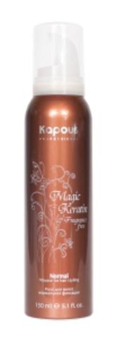 Мусс для укладки волос нормальной фиксации с кератином,Kapous Magic Keratin,400 мл