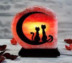 Солевая лампа Влюбленные коты 1,5-2кг