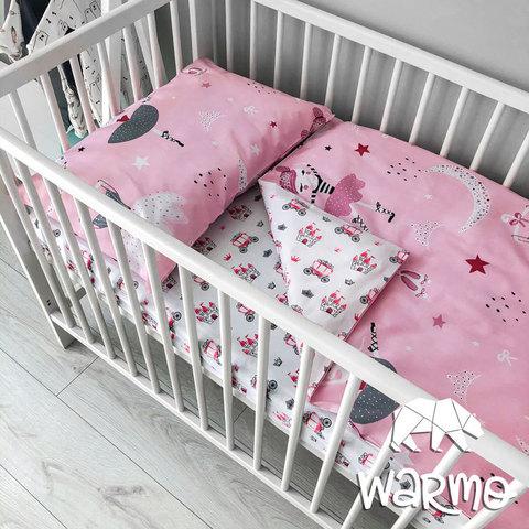 Постільна білизна дитяча з рожевими єдинорогами фото