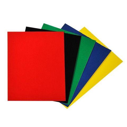 Бумага цветная Каляка-Маляка бархатная, самоклеящаяся (5 л., 5 цв., A4 (194*285)) в папке, ББСКМ5-2
