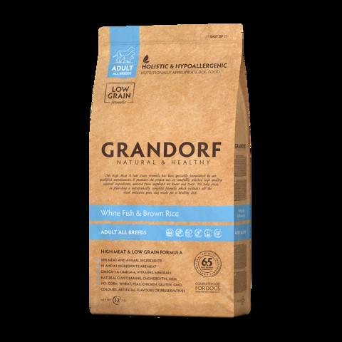 Grandorf White Fish & Rice Adult All Breeds Сухой корм для взрослых собак всех пород Белая рыба с рисом низкозерновой