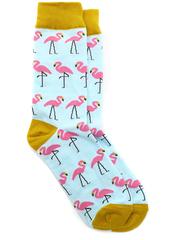 Носки Фламинго с жёлтыми вставками