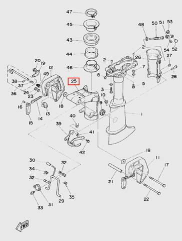 Кронштейн поворотный для лодочного мотора T5 Sea-PRO (10-25)