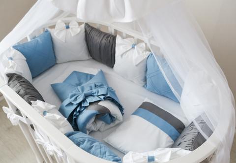 Комплект в круглую/овальную кроватки Лондон