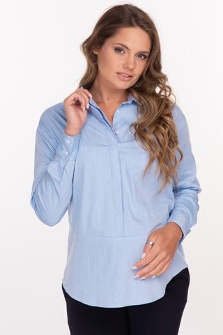 Рубашка для беременных 11883 голубой