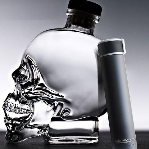 Мини-термос Asobu Skinny mini (0,23 литра), черный