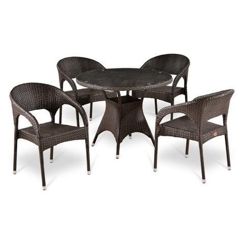 Комплект плетеной мебели T220CT/Y90C-W51 Brown 4Pcs