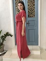 Стелла. Длинное платье больших размеров. Коралл