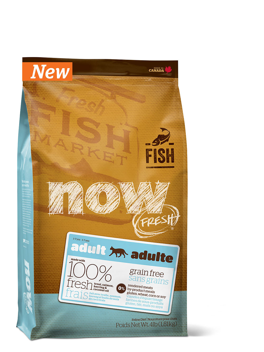 купить сухой корм для кошек NOW FRESH с рыбой
