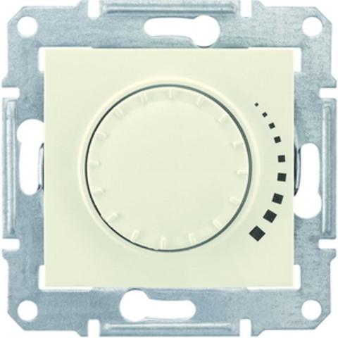Светорегулятор/Диммер поворотно-нажимной 40-1000 Вт/Ва индуктивный. Цвет бежевый. Schneider Electric Sedna. SDN2200947