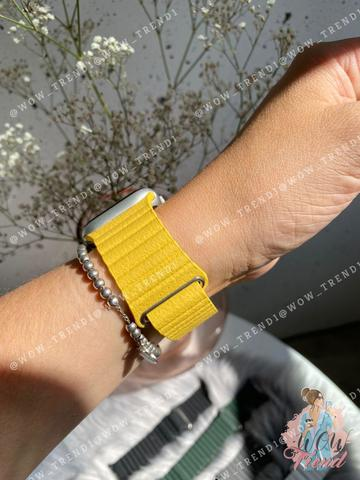 Ремешок Apple watch 42mm Leather Loop /yellow/