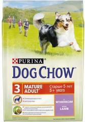 Сухой корм для собак старше 5 лет, Purina Dog Chow Mature Adult, с ягнёнком