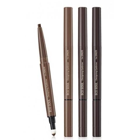 Карандаш для бровей 3 в1 Eco Soul Designing Eyebrow 01 Brown 0,2гр+0,12гр