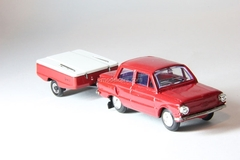ZAZ-968A with trailer Skif red Agat Mossar Tantal 1:43